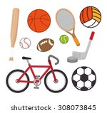 sports digital design  vector... | Shutterstock .eps vector #308073845