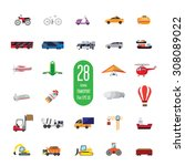 set of icons of transport... | Shutterstock .eps vector #308089022