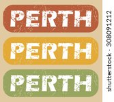 perth stamp | Shutterstock . vector #308091212