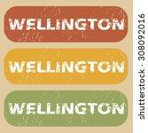 wellington stamp | Shutterstock . vector #308092016