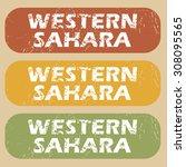 western sahara stamp | Shutterstock . vector #308095565