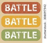 battle stamp | Shutterstock . vector #308097542