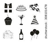 retro party design  vector... | Shutterstock .eps vector #308101478