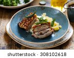 pork belly with crispy... | Shutterstock . vector #308102618
