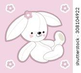 vector cute cartoon childish... | Shutterstock .eps vector #308104922