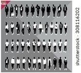 vector illustration of man... | Shutterstock .eps vector #308116202