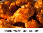 spicy homemade buffalo wings... | Shutterstock . vector #308133785