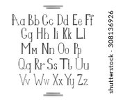 latin alphabet hand draw | Shutterstock . vector #308136926
