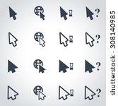 vector black cursor icon set.  | Shutterstock .eps vector #308140985