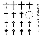 Set Of Crucifix And Cross...