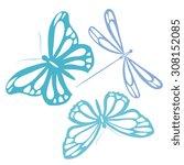 butterflies design | Shutterstock .eps vector #308152085