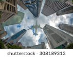 ant view for building in... | Shutterstock . vector #308189312