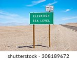 sea level sign | Shutterstock . vector #308189672