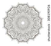 zentangle flower mandala for... | Shutterstock .eps vector #308190926