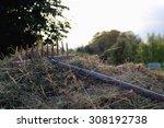 Rakes Hay Field Landscape