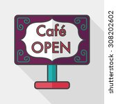 coffee shop signs flat icon... | Shutterstock .eps vector #308202602
