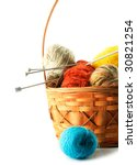 A Basket With Knitting Balls...