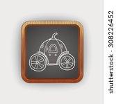 pumpkin carriage doodle   Shutterstock . vector #308226452