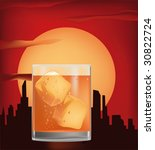 decline of whisky with ice and... | Shutterstock .eps vector #30822724