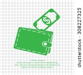 wallet with money icon | Shutterstock .eps vector #308227325