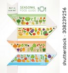 seasonal food and produce guide ... | Shutterstock .eps vector #308239256
