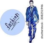sketch of man   model   fashion