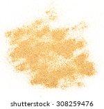 sand pile isolated on white...   Shutterstock . vector #308259476