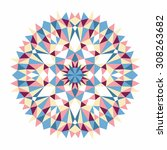 vector triangle pattern...   Shutterstock .eps vector #308263682