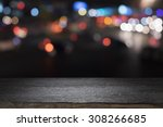 empty wooden table platform and ... | Shutterstock . vector #308266685