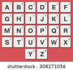 plastic tile alphabet for... | Shutterstock .eps vector #308271056