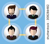 business people flat icons ...