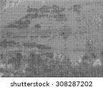 grunge halftone dots vector...   Shutterstock .eps vector #308287202