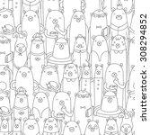 bears pattern | Shutterstock .eps vector #308294852
