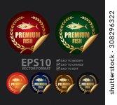 vector   metallic premium fish...   Shutterstock .eps vector #308296322