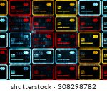 banking concept  credit card...   Shutterstock . vector #308298782