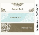 set of banners for business.... | Shutterstock .eps vector #308304932