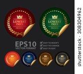 vector   metallic lowest price... | Shutterstock .eps vector #308304962