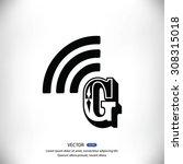 letter g  icon  | Shutterstock .eps vector #308315018