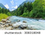 russia. caucasus. mountain...   Shutterstock . vector #308318048