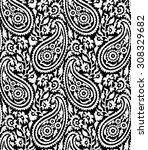 seamless paisley background... | Shutterstock .eps vector #308329682