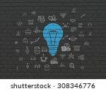 finance concept  light bulb on... | Shutterstock . vector #308346776