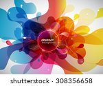 abstract colored background... | Shutterstock .eps vector #308356658