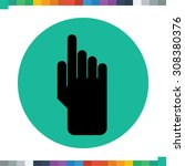 flat finger click icon. | Shutterstock .eps vector #308380376