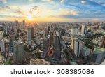 bangkok panorama  cityscape... | Shutterstock . vector #308385086