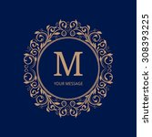 elegant monogram design...   Shutterstock .eps vector #308393225
