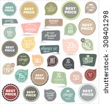 badges and labels collection | Shutterstock .eps vector #308401298