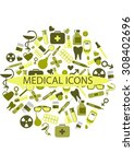 medical icons on a white
