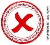red grunge rejected stamp on a... | Shutterstock .eps vector #30840994