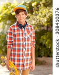 stylish kid boy 14 16 year old... | Shutterstock . vector #308410376