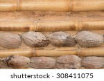 background bamboo and coconut | Shutterstock . vector #308411075
